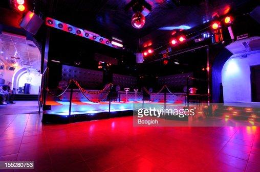 Retro European Disco Dancefloor Interior Nightlife
