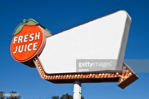 Retro Fresh Juice Sign