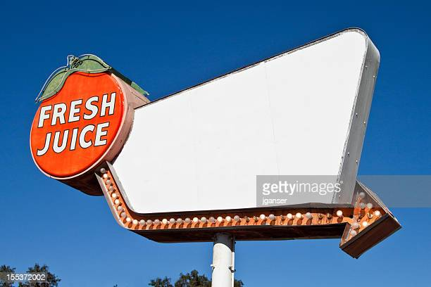 Retro Fresh Juice Sign