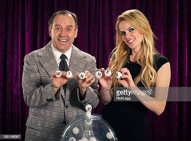 Retro Game Lottery Host and Assistant