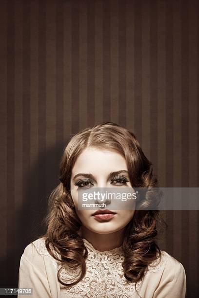 retro girl portrait