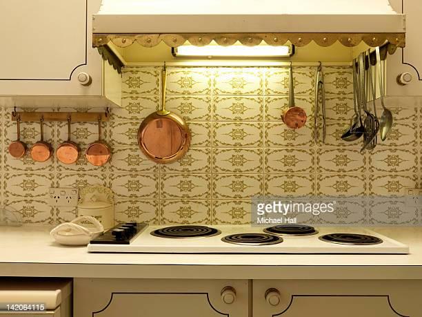 Retro house interior kitchen