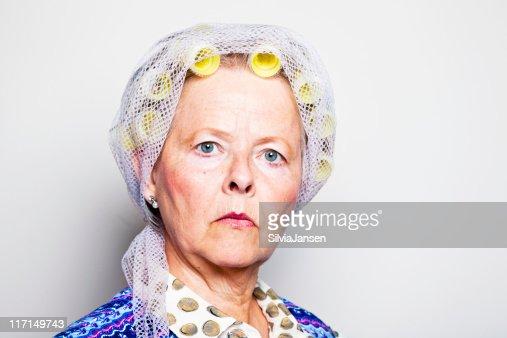 retro housewife portrait