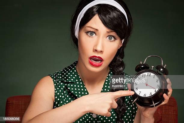 Retro Hausfrau spät