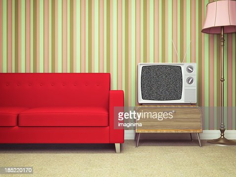 Retro Living Room retro living room stock photo | getty images