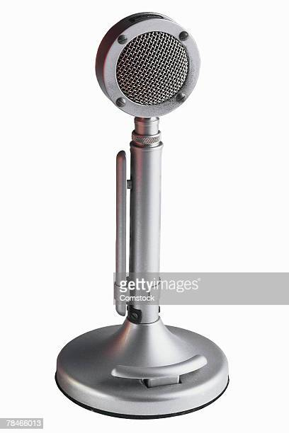 Retro microphone for radio broadcast