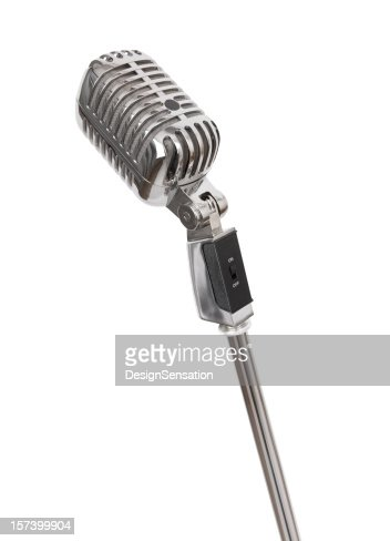 Retro Microphone (+clipping path, XXL)