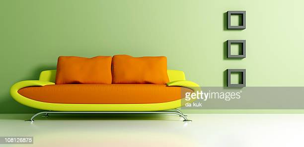 Retro Mod Couch and Interior Decorating