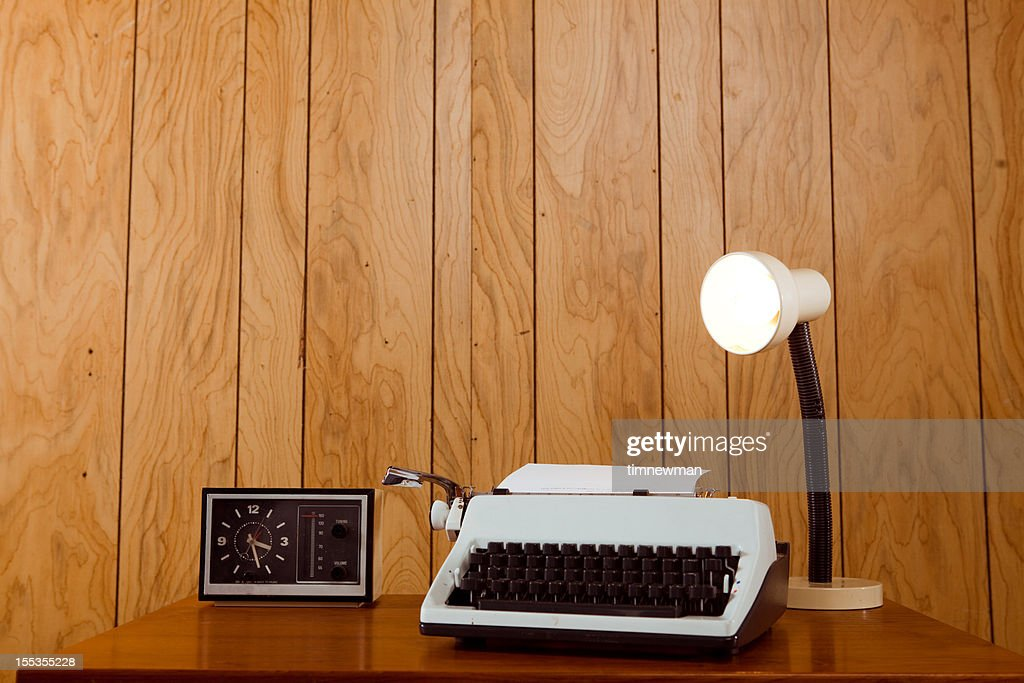 Retro Office Desk : Stock Photo