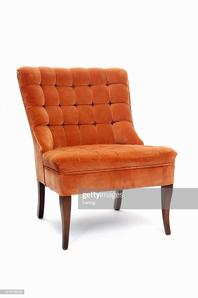 Retro Orange Armchair : Stock Photo