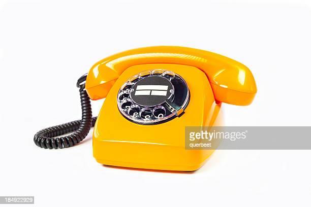 レトロなオレンジの電話