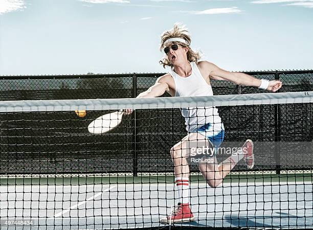 Retro Pickleball Player