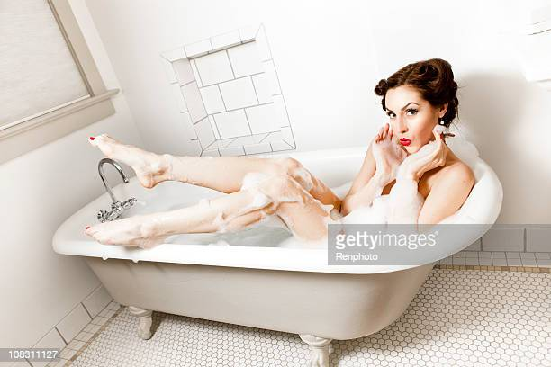 Retro Pin-up Girl: In the Bathtub