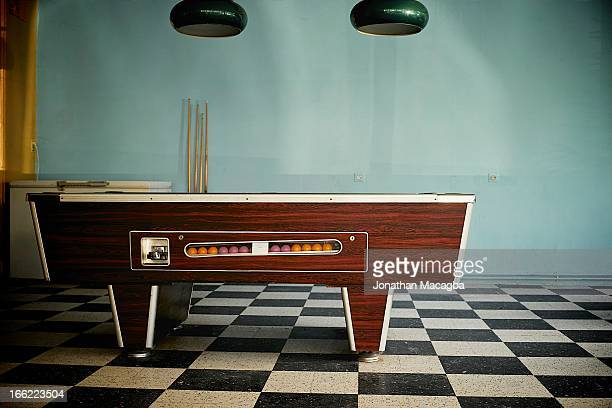 Retro pool table