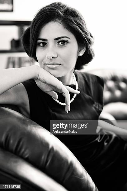 Retro portrait of a woman