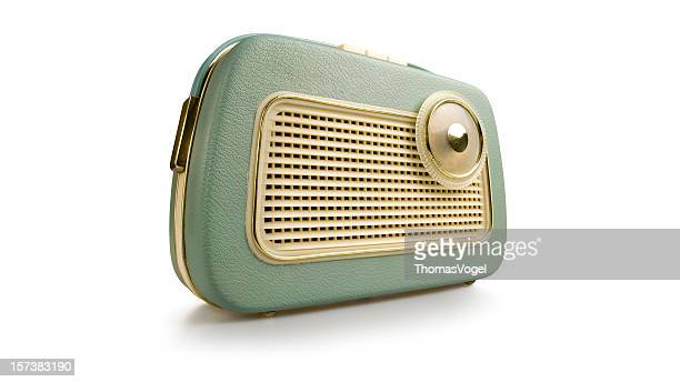 Retro radio. Revival Old fashioned 1970s 1950s Style