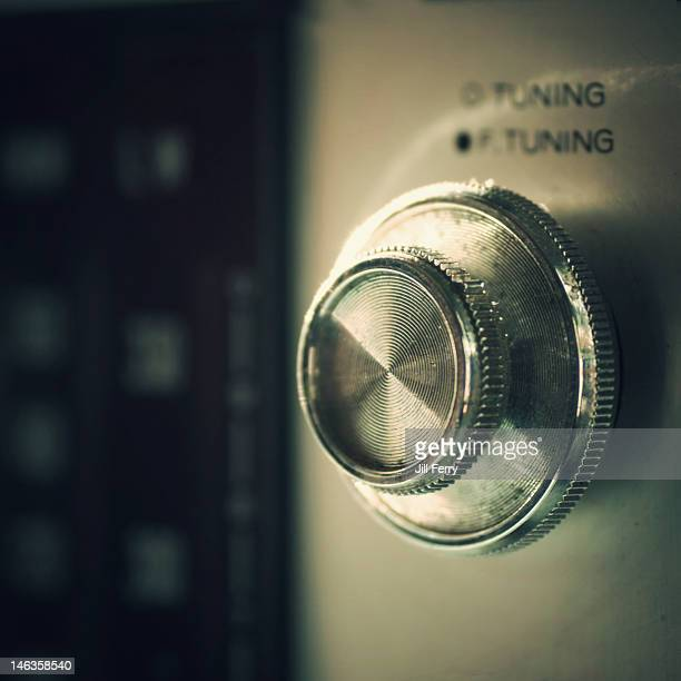 Retro radio tuning knob