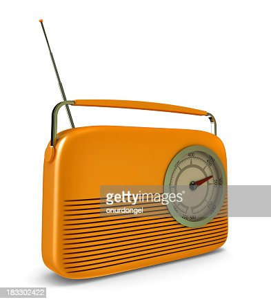 retro radio with clipping path stock photo getty images. Black Bedroom Furniture Sets. Home Design Ideas