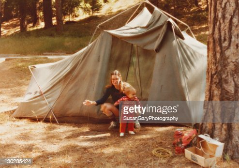 Retro revival mother and baby boy : Stock Photo