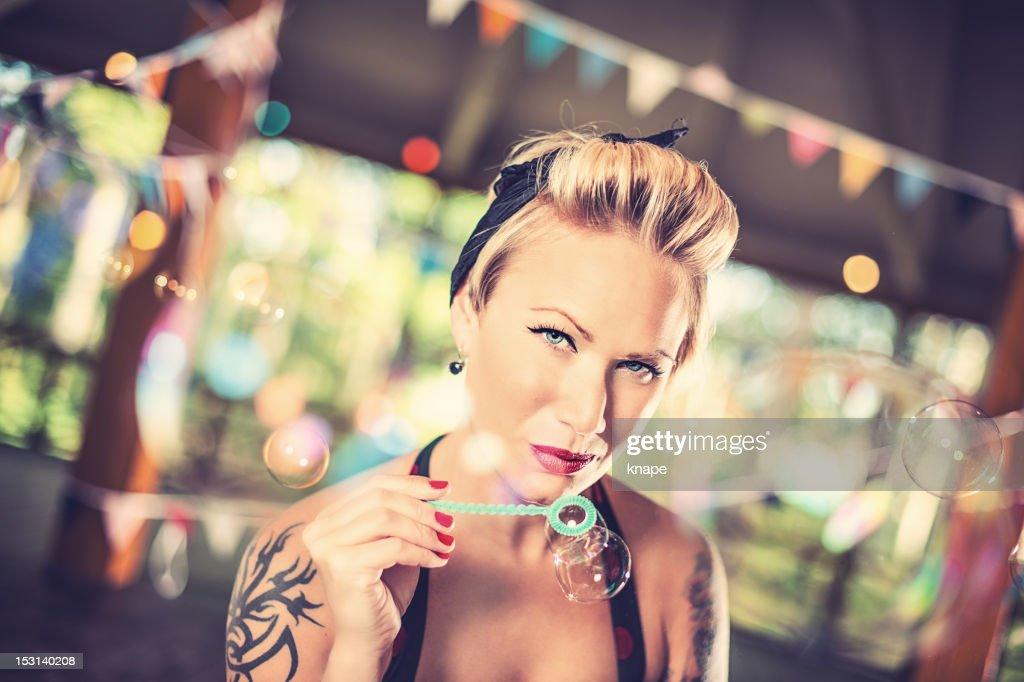 Retro Rockabilly Woman : Stock Photo