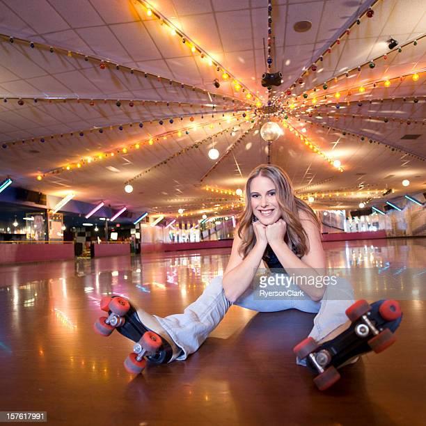 Retro Roller-Skaten.