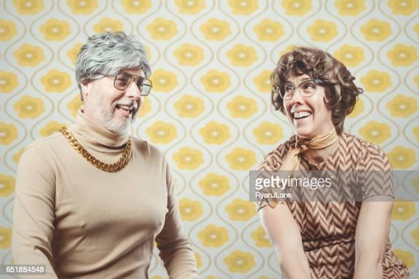 Couple de Style rétro années 70