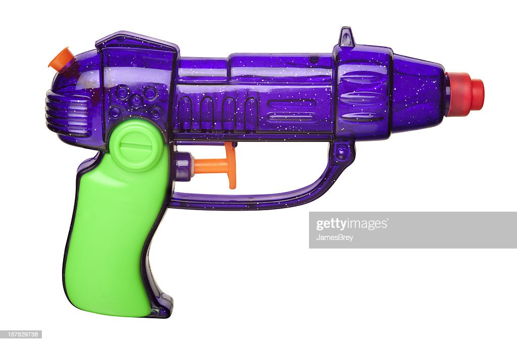 Retro Squirt Gun With Clipping Path