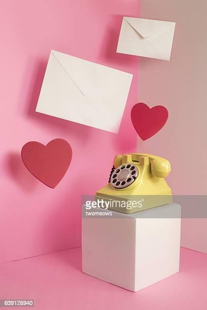 Retro style conceptual image of 'communication'.