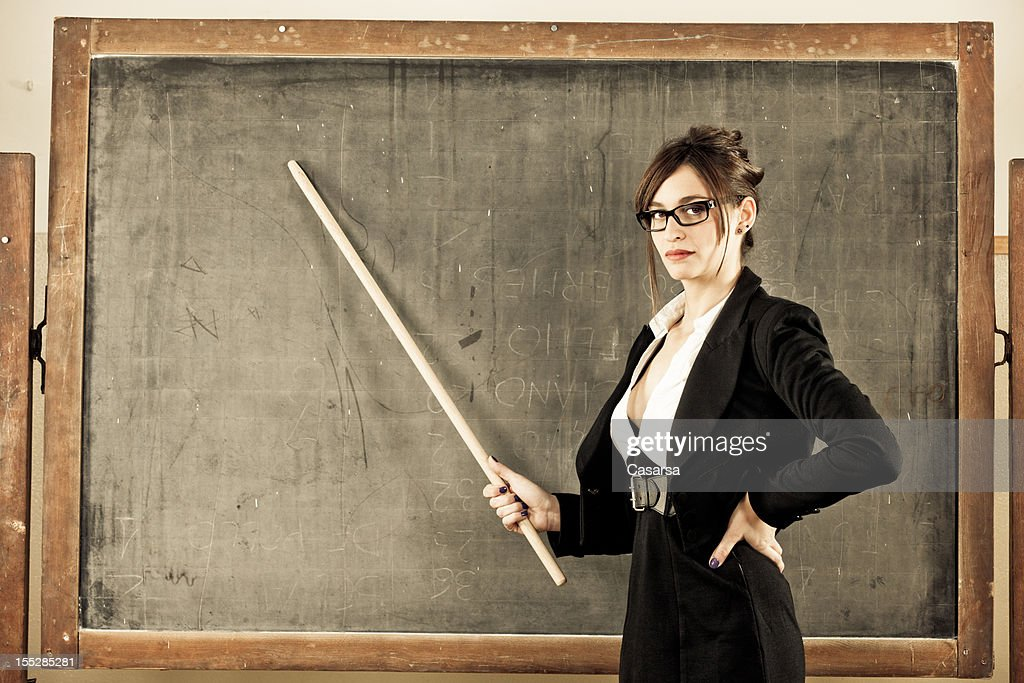 Retro style teacher