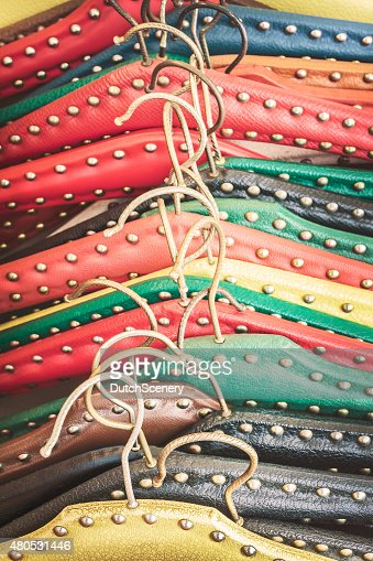 Retro styled image of old dress hangers : Bildbanksbilder
