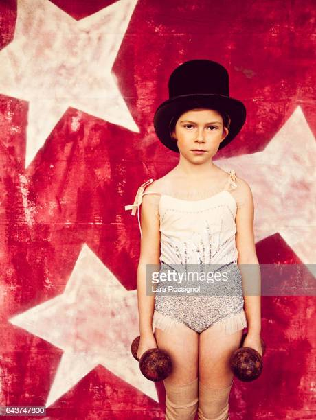 Retro Styled Red Headed Little Girl