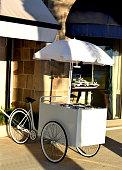 Retro stylish carts for selling ice cream