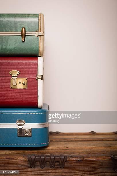 Retrò le valigie multistrato in legno Trunk, con spazio di copia