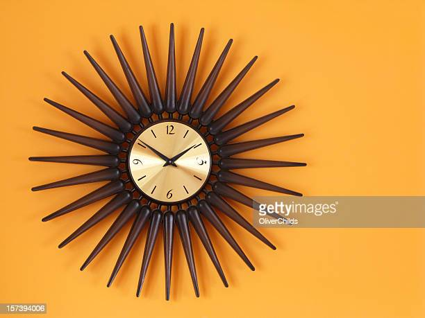 Retro Sunburst Clock.