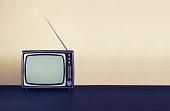 Retro or vintage tv header with copy space
