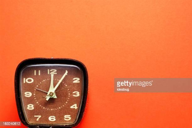 Retro Time on Orange - #3 (Room for Text)