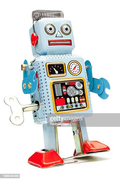 Retro tin toy robot