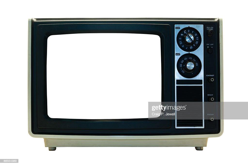 Retro TV Isolated : Stock Photo