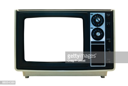 Retro TV Isolated : Stock Photo