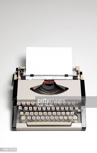 Retro type writer with copy space