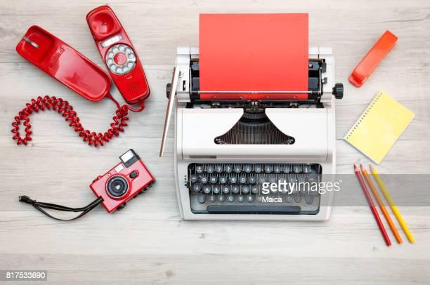 Retro typemachine op het Bureau.