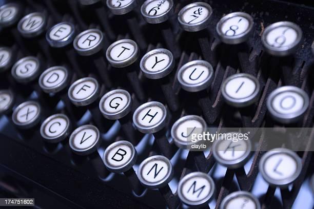 retro typewriter keys