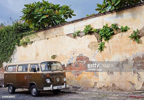 Retro Vintage Rustic Van