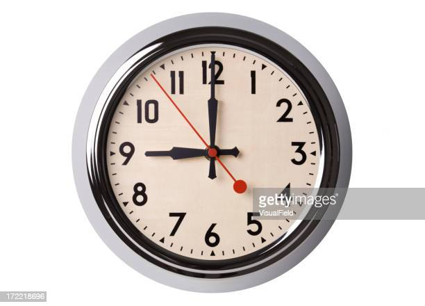 Retro Wall Clock Set to 9:00