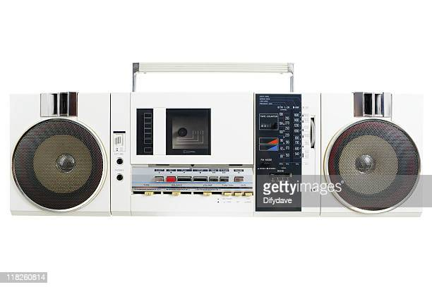 Retro White Radio Cassette Machine