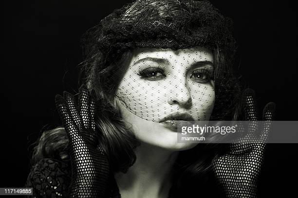 retro Frau Porträt