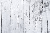 Retro wooden wall whitewashed by lime, modern style, weathered cracky messy wooden backdrop, vintage background for design