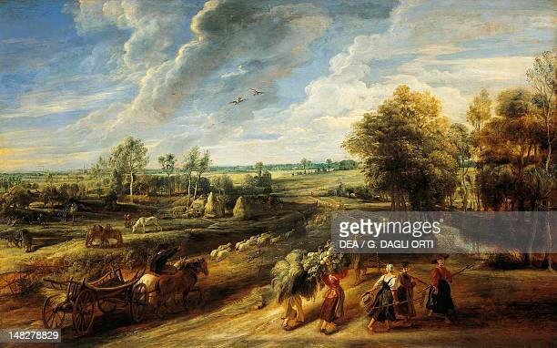 Return from the fields by Peter Paul Rubens Florence Palazzo Pitti Galleria Palatina