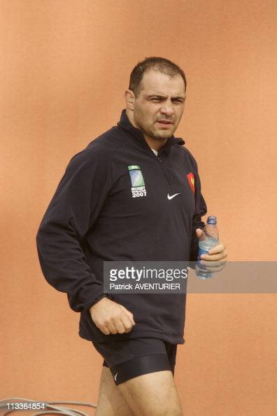 Return Of The French Rugby Team In Marcoussis France On October 09 2007 Raphael Ibanez