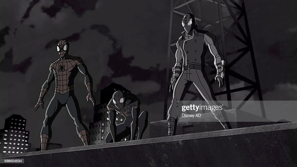 S ULTIMATE SPIDER-MAN VS. THE SINISTER 6 - 'Return to the Spider-Verse - Part 3' - Spider-Man and Kid Arachnid arrive in the Noir Universe, where they have to prevent Mr. Negative from using the Siege Perilous to drain all the life and color out of the world. This episode of 'Marvel's Ultimate Spider-Man VS. The Sinister 6' airs Saturday, September 10 (8:00 - 8:30 P.M. EDT) on Disney XD. SPIDER
